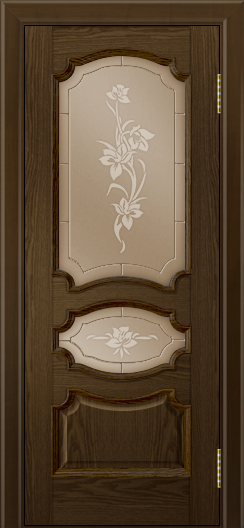 Дверь Лайндор Марта тон 35 стекло Рим бронза
