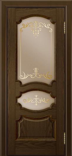 Дверь Лайндор Марта тон 35 стекло Элегия бронза наливка золото