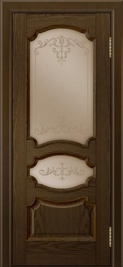 Дверь Лайндор Марта тон 35 стекло Элегия бронза наливка прозрачная