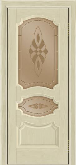 Дверь Лайндор Марта тон 36 стекло Византия бронза