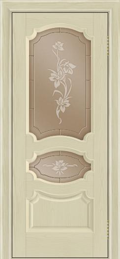 Дверь Лайндор Марта тон 36 стекло Рим бронза