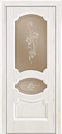 Дверь Лайндор Марта тон 38 стекло Рим бронза