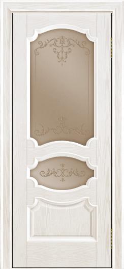 Дверь Лайндор Марта тон 38 стекло Элегия бронза наливка прозрачная