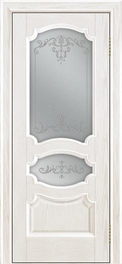 Дверь Лайндор Марта тон 38 стекло Элегия светлое наливка прозрачная
