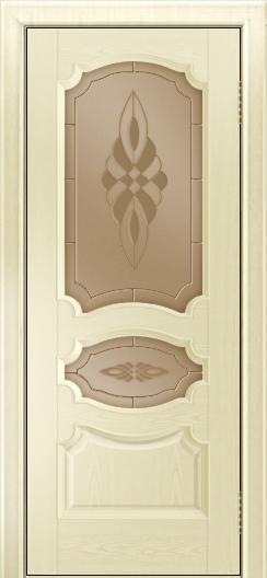 Дверь Лайндор Марта тон 42 стекло Византия бронза