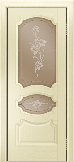 Дверь Лайндор Марта тон 42 стекло Рим бронза