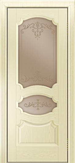 Дверь Лайндор Марта тон 42 стекло Элегия бронза наливка прозрачная