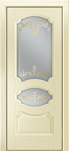 Дверь Лайндор Марта тон 42 стекло Элегия светлое наливка золото
