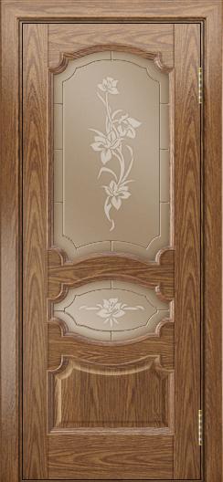 Дверь Лайндор Марта тон 45 стекло Рим бронза