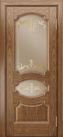 Дверь Лайндор Марта тон 45 стекло Элегия бронза наливка золото