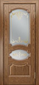 Дверь Лайндор Марта тон 45 стекло Элегия светлое наливка золото