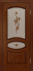 Дверь Лайндор Оливия Л тон 10 стекло Рим-СТ