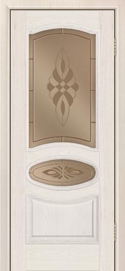 Дверь Лайндор Оливия Л тон 27 стекло Византия бронза