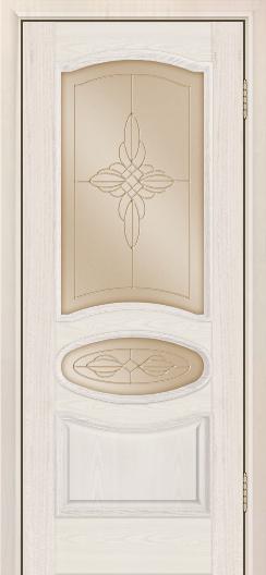 Дверь Лайндор Оливия Л тон 27 стекло Ювелия бронза
