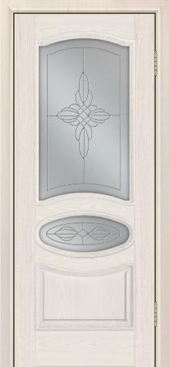 Дверь Лайндор Оливия Л тон 27 стекло Ювелия светлое