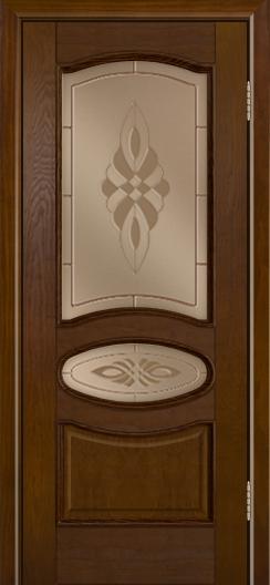 Дверь Лайндор Оливия Л тон 30 стекло Византия бронза