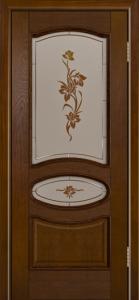 Дверь Лайндор Оливия Л тон 30 стекло Рим-СТ