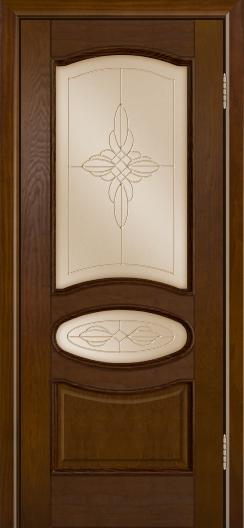 Дверь Лайндор Оливия Л тон 30 стекло Ювелия бронза