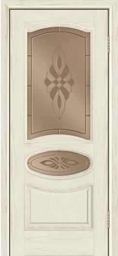 Дверь Лайндор Оливия Л тон 34 стекло Византия бронза