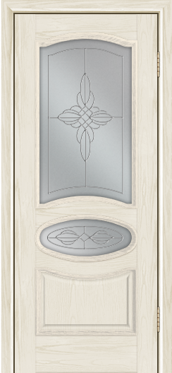 Дверь Лайндор Оливия Л тон 34 стекло Ювелия светлое