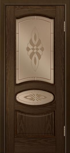 Дверь Лайндор Оливия Л тон 35 стекло Византия бронза