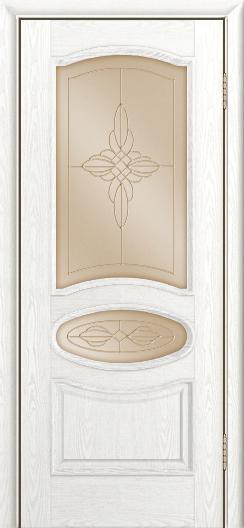 Дверь Лайндор Оливия Л тон 38 стекло Ювелия бронза