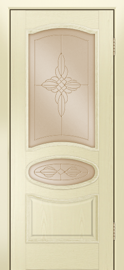 Дверь Лайндор Оливия Л тон 42 стекло Ювелия бронза