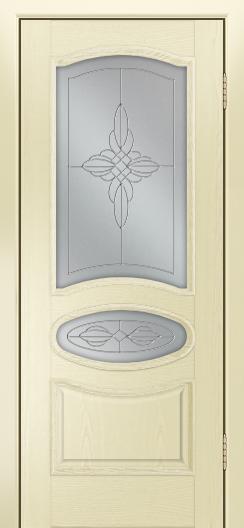 Дверь Лайндор Оливия Л тон 42 стекло Ювелия светлое