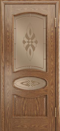 Дверь Лайндор Оливия Л тон 45 стекло Византия бронза