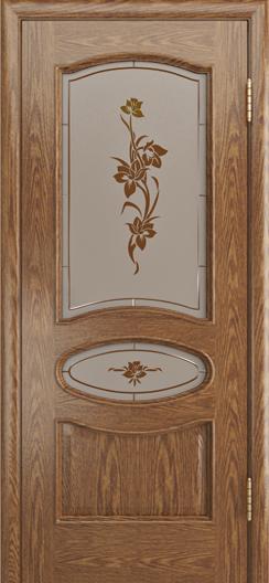 Дверь Лайндор Оливия Л тон 45 стекло Рим-СТ