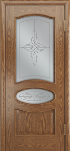 Дверь Лайндор Оливия Л тон 45 стекло Ювелия светлое