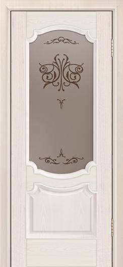 Дверь Лайндор Селеста тон 27 стекло Бабочка бронза