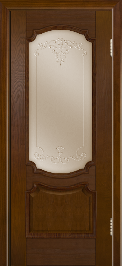 Дверь Лайндор Селеста тон 30 стекло Элегия бронза наливка прозрачная