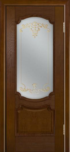 Дверь Лайндор Селеста тон 30 стекло Элегия св наливка золото