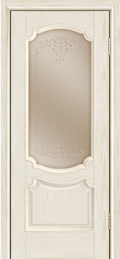 Дверь Лайндор Селеста тон 34 стекло Элегия бронза наливка прозрачная