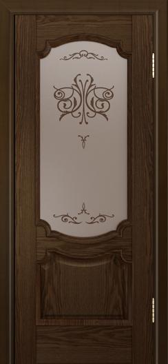 Дверь Лайндор Селеста тон 35 стекло Бабочка бронза