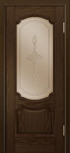 Дверь Лайндор Селеста тон 35 стекло Сириус бронза