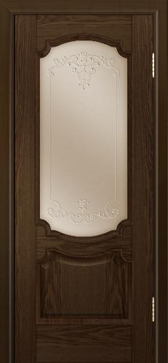 Дверь Лайндор Селеста тон 35 стекло Элегия бронза наливка прозрачная