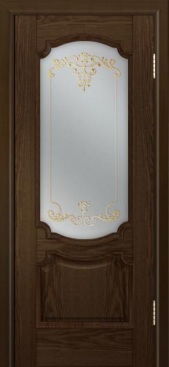 Дверь Лайндор Селеста тон 35 стекло Элегия св наливка золото