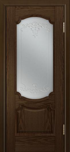 Дверь Лайндор Селеста тон 35 стекло Элегия св наливка прозрачная