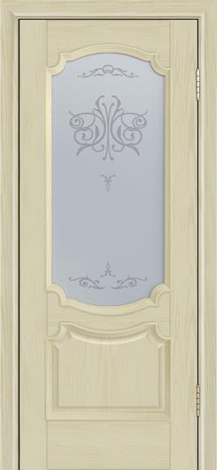Дверь Лайндор Селеста тон 36 стекло Бабочка светлое