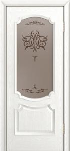 Дверь Лайндор Селеста тон 38 стекло Бабочка бронза