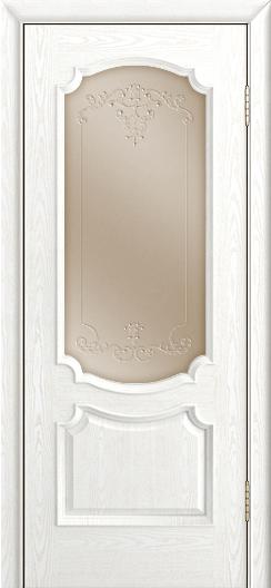 Дверь Лайндор Селеста тон 38 стекло Элегия бронза наливка прозрачная