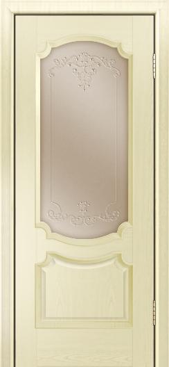 Дверь Лайндор Селеста тон 42 стекло Элегия бронза наливка прозрачная