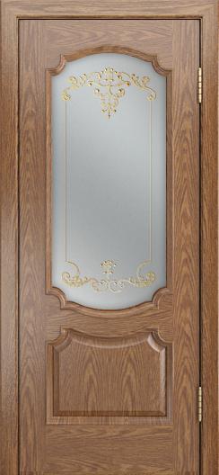 Дверь Лайндор Селеста тон 45 стекло Элегия св наливка золото