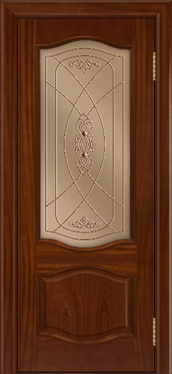 Дверь Лайндор София тон 10 стекло Бронза фреза