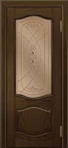 Дверь Лайндор София тон 35 стекло Бронза фреза