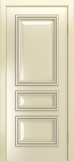 Двери Лайндор Агата Д эмаль бисквит патина серебро