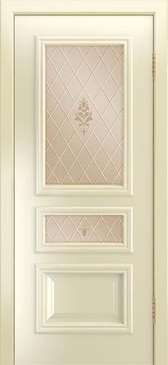 Двери Лайндор Агата Д эмаль бисквит стекло Лилия бронза