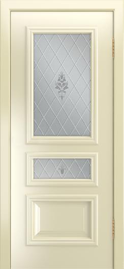 Двери Лайндор Агата Д эмаль бисквит стекло Лилия светлое